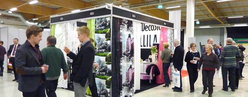 Kuhinaa DecoStoren osastolla Rakentaminen ja Talotekniikka 2012 -messuilla